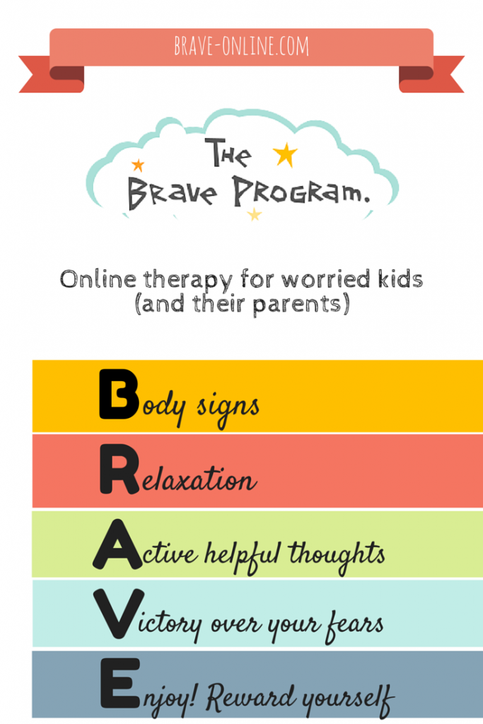 BRAVE is an online therapy program for worried children, teenagers and their parents